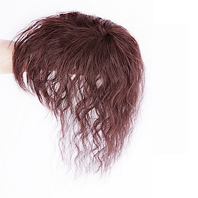 米蘭精品 假髮片真髮絲-短捲髮25cm自然增髮量女假髮母親節禮物2色73us26