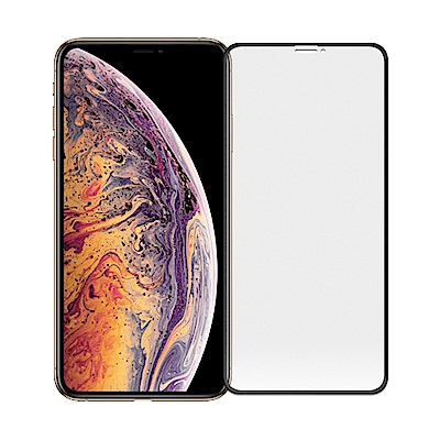 【SHOWHAN】iPhone Xs Max 3D電競級霧面滿版滿膠鋼化玻璃貼/黑色