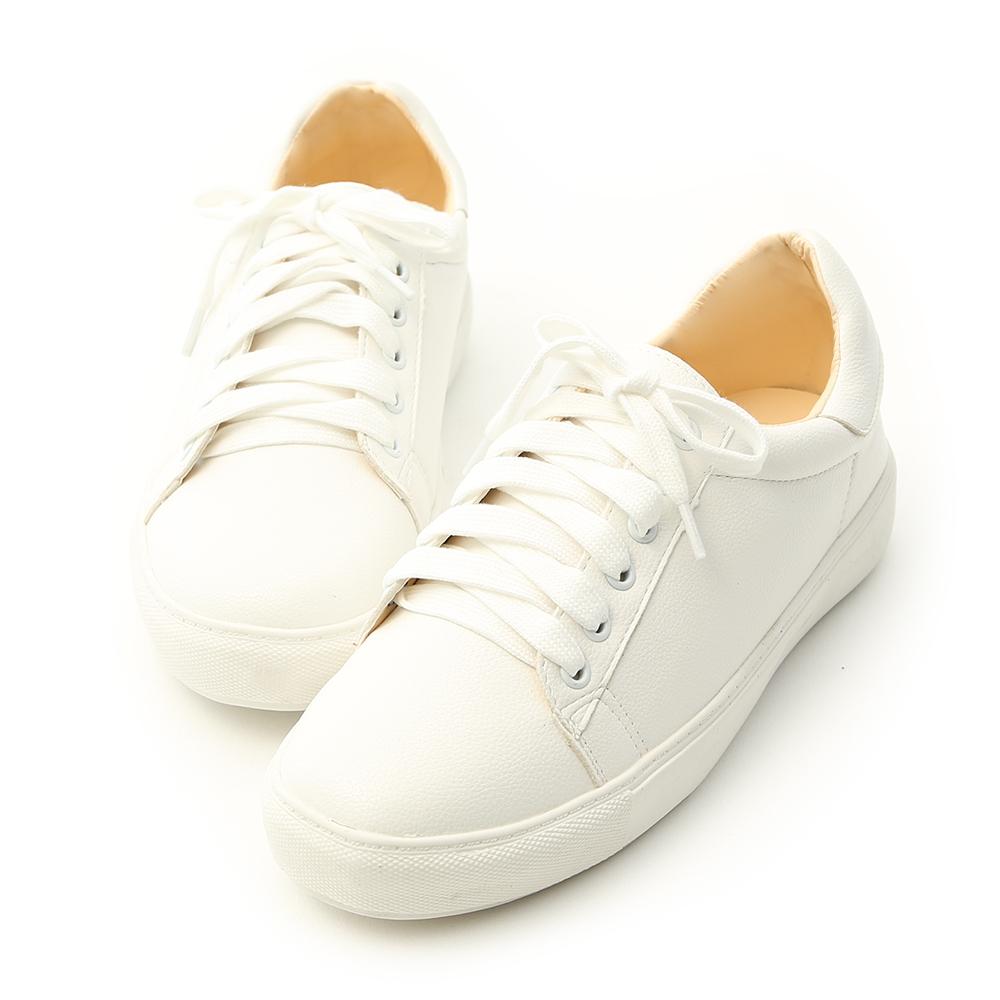 D+AF 日常焦點.百搭加厚底綁帶休閒鞋*白