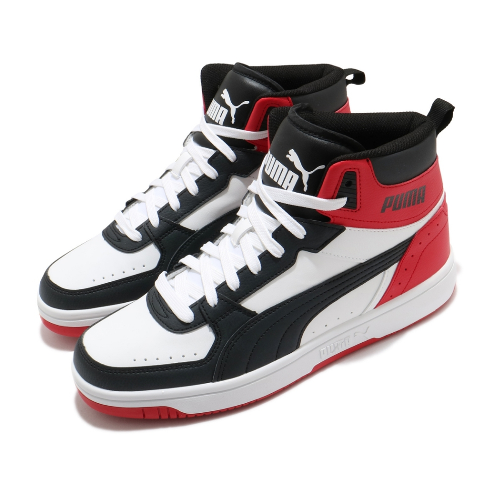 Puma 休閒鞋 Rebound Joy 運動 男鞋 基本款 舒適 簡約 皮革 質感 穿搭 白 紅 37476503