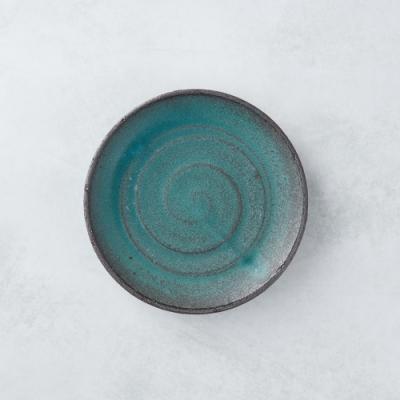 有種創意 日本美濃燒 - 點心小盤 - 青綠 15cm