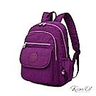 Kiiwi O! 實用機能系列後背包 TERESA 紫紅