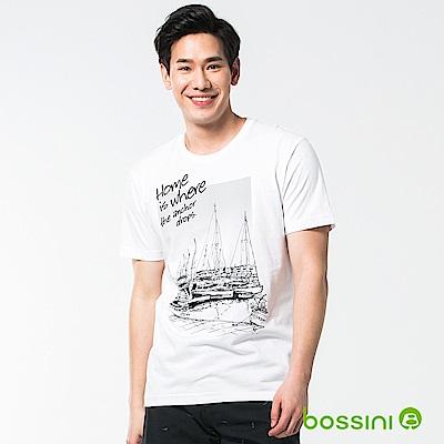 bossini男裝-圓領短袖T恤17白