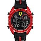 Scuderia Ferrari 法拉利 奔馳電子計時手錶(FA0830549)-紅x黑