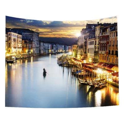 半島良品 北歐風裝飾掛布-街景系列/威尼斯夜景 150x130cm