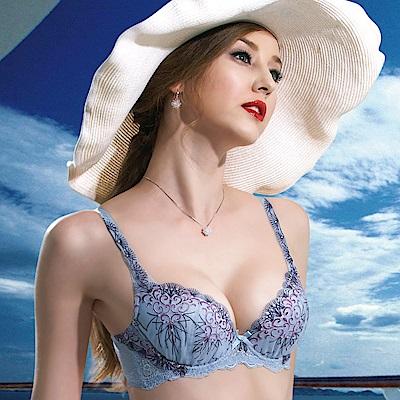 莎露-蔚藍海景 B-D 罩杯內衣(天藍)奢華蕾絲