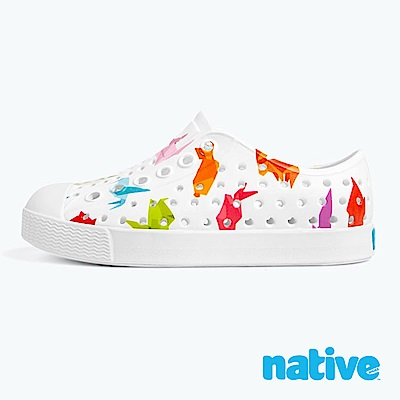 native 大童鞋 JEFFERSON 小奶油頭鞋-摺紙白