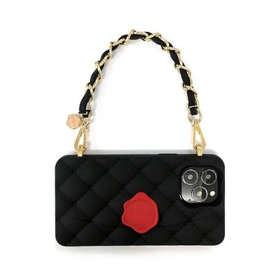 【Candies】小香風經典晚宴包手機殼(黑) - iPhone 13 Pro Max