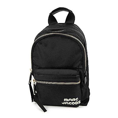 MARC JACOBS TREK PACK品牌Logo尼龍雙層後背包 小/黑色
