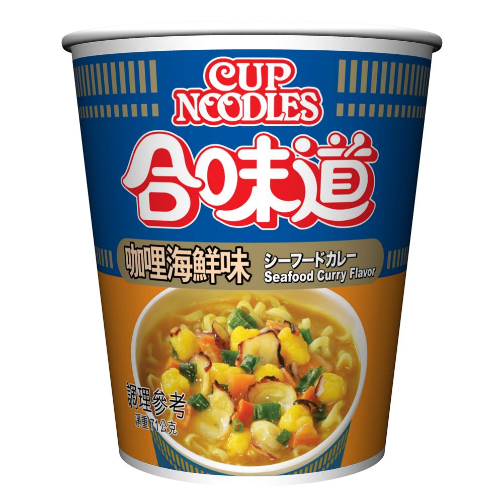 日清 合味道咖哩海鮮味杯麵(71g)