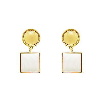 Prisme 美國時尚飾品 幾何魅力 金色耳環