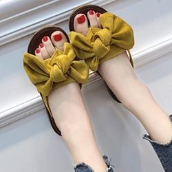 KEITH-WILL時尚鞋館 簡約淑女沙灘夾腳拖鞋 黃