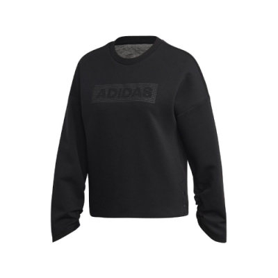 adidas 大學T Crew DK EMBY 運動休閒 女款
