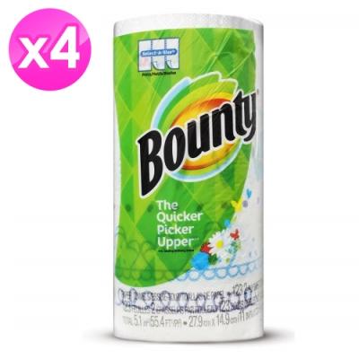 美國Bounty 彩色印花廚房紙巾-隨意撕123張/捲 X4入