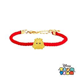 Disney迪士尼TSUM TSUM系列金飾 黃金編織手鍊-妙妙貓款