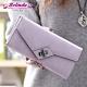 【Belinda】荷蒂拉霧感斜轉扣多格層長夾(紫色) product thumbnail 1