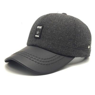 米蘭精品 棒球帽保暖毛呢帽-時尚百搭冬季必備男護耳帽3色73pi16