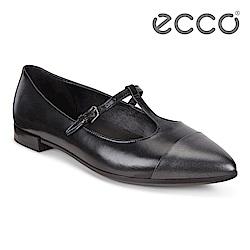 ECCO SHAPE POINTY BALLERINA 氣質尖頭縷空平底鞋 女-黑