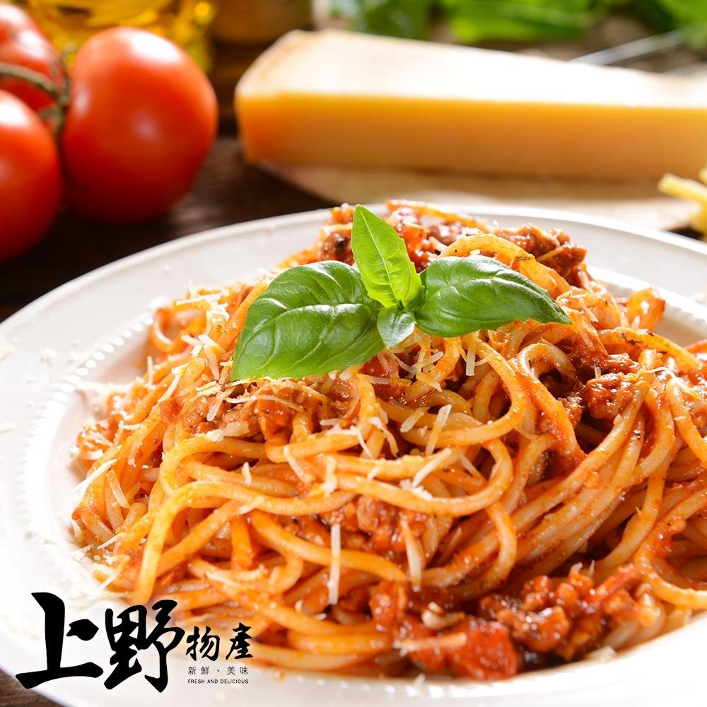 【上野物產】重口味羅馬風黑胡椒醬義大利麵(麵體+醬料包 310g土10%/包) x12包