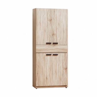 Bernice-威力橡木2.5中抽雙吊衣櫥-75x57x195cm