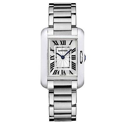 (無卡分期24期)CARTIER 卡地亞 TANK ANGLAISE腕錶小型款石英機芯