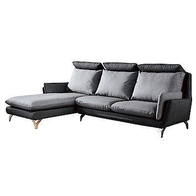 文創集 米德林貓抓皮L型沙發(左右二向)-284x180x106cm-免組