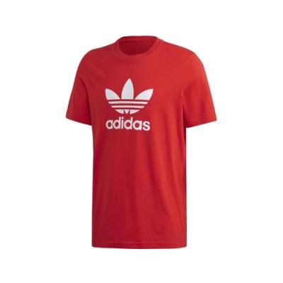 adidas T恤 Trefoil Tee 運動休閒 男款 愛迪達 三葉草 LOGO 圓領 棉質 穿搭 紅白 FM3791