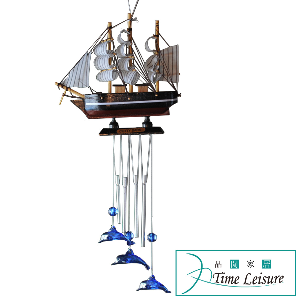Time Leisure 地中海風格帆船風鈴/裝飾風鈴/掛飾吊飾 顏色隨機
