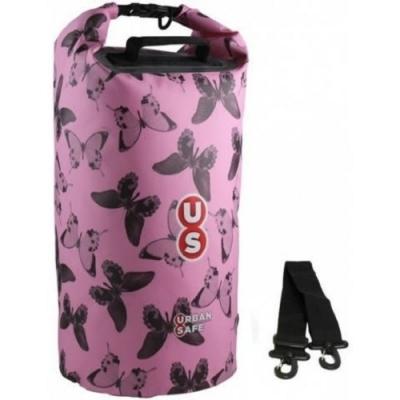 OverBoard US1005 側背防水袋 20L 城市美學系列 粉紅蝴蝶