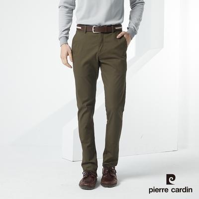 Pierre Cardin皮爾卡登 男裝 棉質彈力經典直筒型休閒長褲-橄綠色(7217882-49)