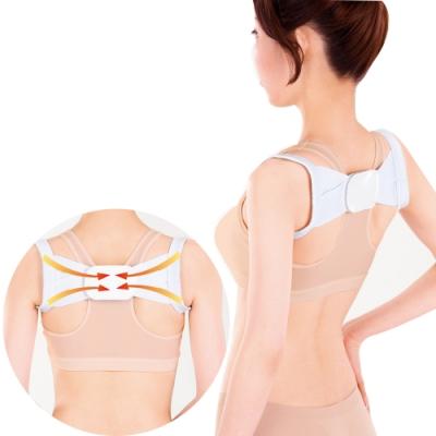 [時時樂限定]防止駝背調整型美姿肩帶 日本sunfamily
