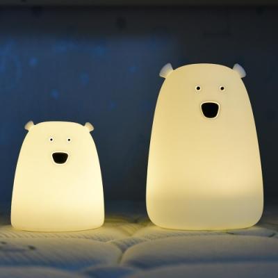 憨憨熊  多彩矽膠夜燈(小)