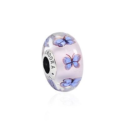 Pandora 潘朵拉 閃耀晶透花園蝴蝶琉璃珠 純銀墜飾 串珠