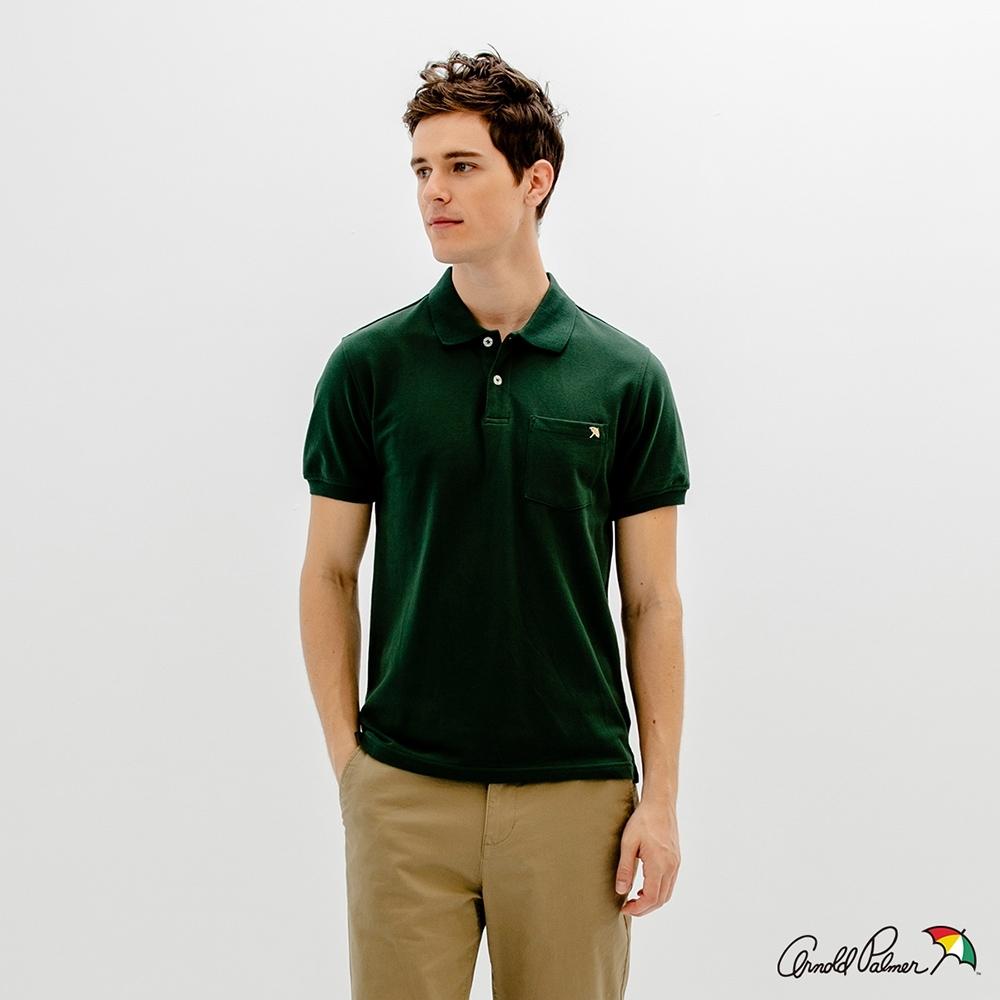 Arnold Palmer -男裝-經典小傘POLO衫-綠色