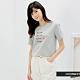 H:CONNECT 韓國品牌 女裝 -大理石紋英文圖印T-Shirt-淺藍色 product thumbnail 1
