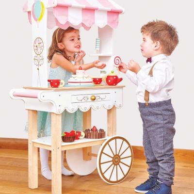 英國 Le Toy Van 角色扮演系列-夢幻甜點餐車大型玩具組