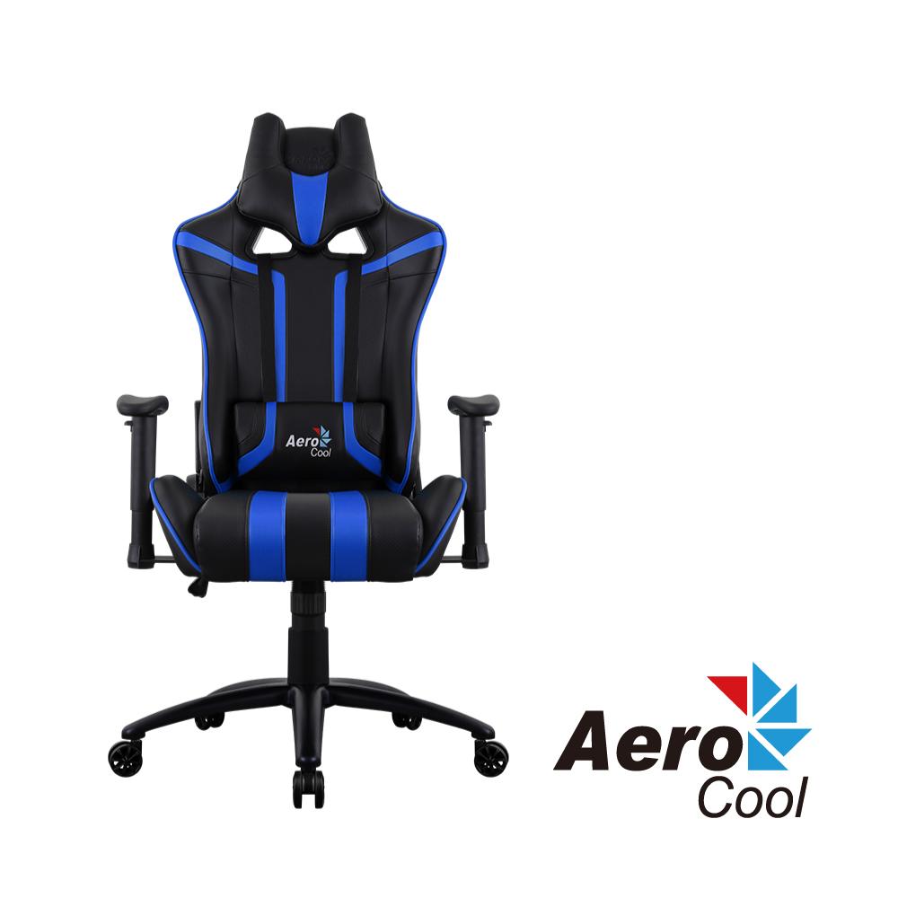 【Aerocool 愛樂酷 】AC120 AIR系列 競速超跑電競賽車椅(黑藍色)