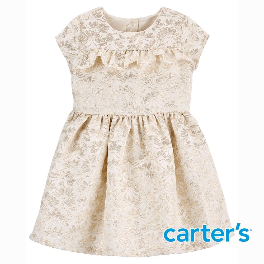 【Carter's】緹花梭織氣質短袖洋裝(2T-5T)  (台灣總代理)