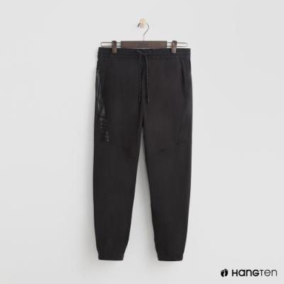 Hang Ten - 男裝 - ThermoContro-鬆緊運動束口褲 - 黑