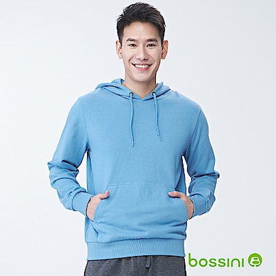 bossini男裝-連帽厚棉T恤01湖水藍