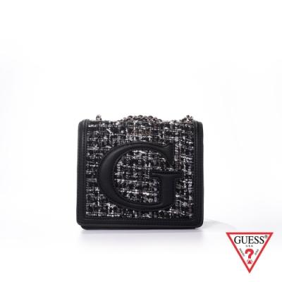GUESS-女包-名媛風鏈條小方包-黑