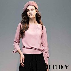 Hedy赫蒂 圓領縫珠綁帶上衣(共兩色)
