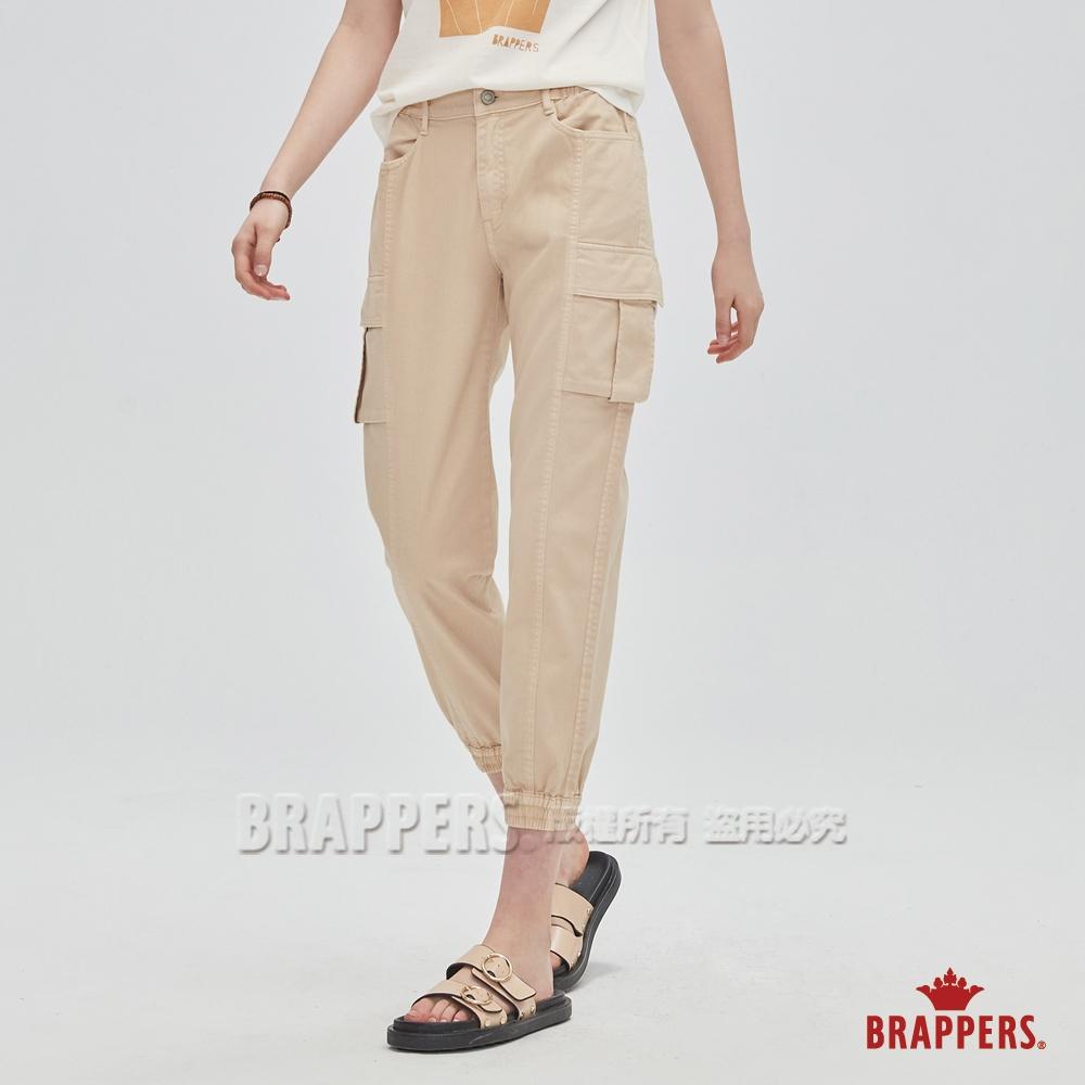 BRAPPERS 女款 Boy Friend系列-中腰微彈性八分褲-卡其