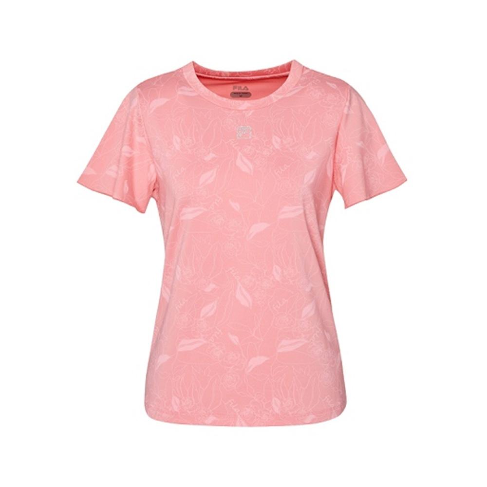 FILA 女吸濕排汗短袖T恤-粉色 5TEV-1601-PK
