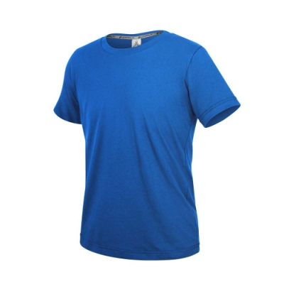 HODARLA ZERO DRY男機能排汗棉短袖T恤-台灣製 抗UV 反光 上衣 慢跑 3158404 寶藍