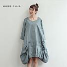 【MOSS CLUB】寬鬆剪裁連身-洋裝(二色)