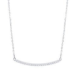 SWAROVSKI 施華洛世奇 ONLY璀璨水晶微笑弧形銀色項鍊
