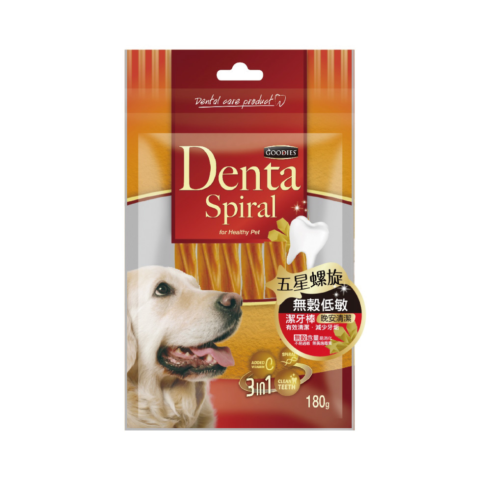 寵愛物語-Denta Spiral無穀低敏潔牙棒 五星螺旋180g-2包組