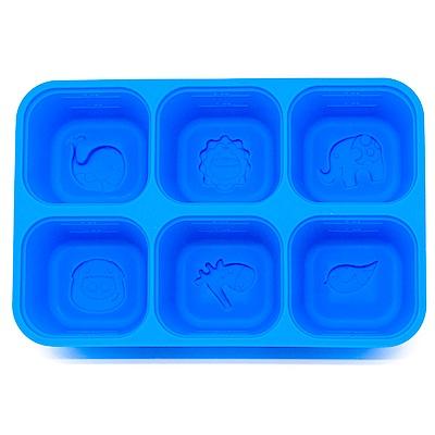 【麗嬰房】MARCUS&MARCUS 動物樂園矽膠副食品分裝保存盒(6色可選)
