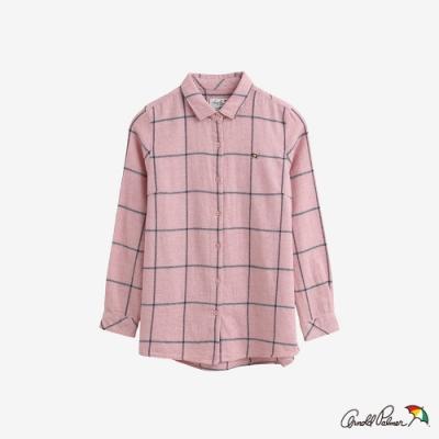 Arnold Palmer -女款-都會感格紋法蘭絨襯衫-粉色